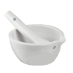 Mortar with pestle, small - 110 ml inhold/