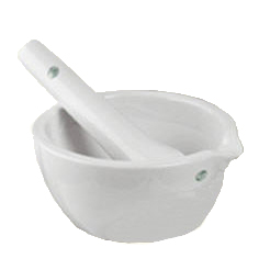 Mortar with pestle, big - 1135 ml inhold/