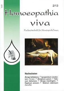 """Homoeopathia viva 13-2 Solanaceae - mehr als """"nur"""" Belladonna, Stramonium und Hyoscyamus/Zeitschrift"""