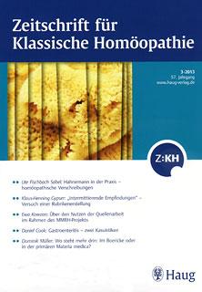 Zeitschrift für Klassische Homöopathie 2013/3/ZKH