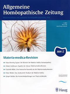 AHZ 2013/1 - Materia-medica-Revision/AHZ