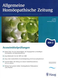 AHZ 2013/6 - Arzneimittelprüfungen/AHZ