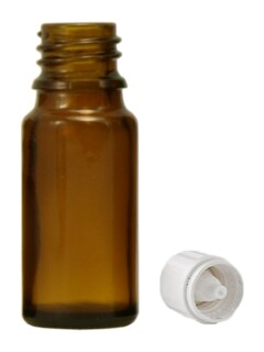 Brown glass bottles, 20 ml with closure and dropper U2/