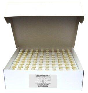 100 tubes en verre de 1,3 g de granules neutres (Globuli Sacchari) Ø 2,2 mm/Narayana Verlag