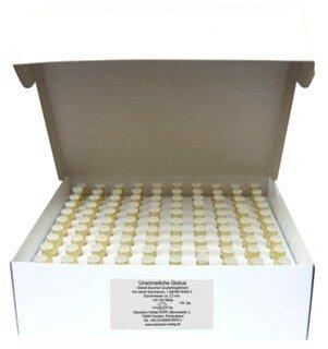 Gläschen braun mit 1,3 g unarzneilichen Globuli Nr.3 - 1000 Stk., Narayana Verlag