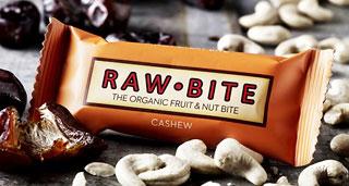 Barre crue bio Raw Bite Noix de cajou 50 g/