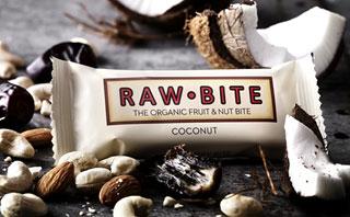 Barre crues bio Raw Bite Noix de coco 50 g/
