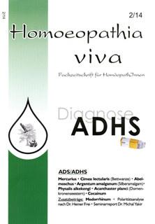 Homoeopathia viva 14-2 ADS/ADHS/Zeitschrift