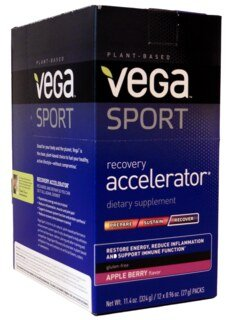 Vega Sport Recovery Accelerator - Apple Berry, Beutel 12 x 27 g/