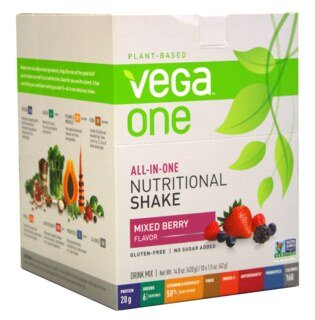 Vega One all-in-one Nutritional Shake - Mixed Berry, Beutel 10 x 42 g/
