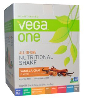 Vega One all-in-one Nutritional Shake - Vanilla Chai, Beutel 10 x 44 g