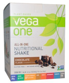 Vega One all-in-one Nutritional Shake - Chocolate, Beutel 10 x 46 g
