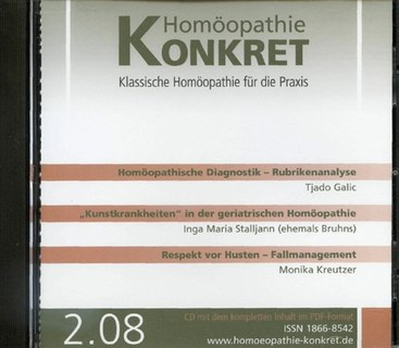 Homöopathie Konkret 2008/2 - CD/Kirstin Hill