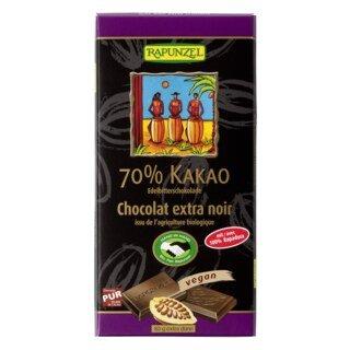 Edelbitter Schokolade 70% Kakao (Rapadura) - Bio - 80 g/