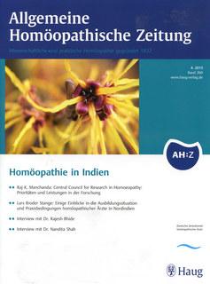 AHZ 2015/4 - Homöopathie in Indien/AHZ