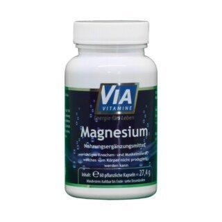 Magnesium 200 mg - 60 pflanzliche Kapseln, nach Andreas Moritz/