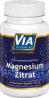 Magnesiumzitrat - 60 pflanzliche Kapseln, nach Andreas Moritz/