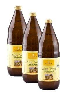 Jus d'Aloe-vera, pur, 3 x 1 litre  recommandé par Andreas Moritz/