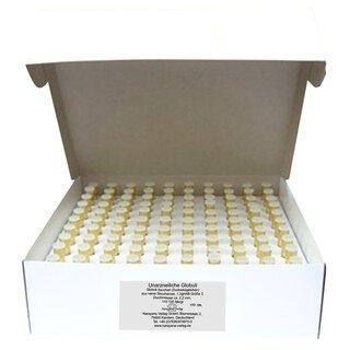 Gläschen klar mit 1,3 g unarzneilichen Globuli Nr.3 - 1000 Stk., Narayana Verlag