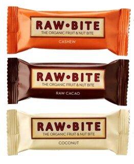 Raw Bite Rohkost Riegel Bio - 3 Sorten-Mix nussig