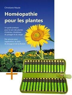Homéopathie pour les plantes + 1 étui en cuir + 30 remèdes Homeoplant pour les plantes du jardin et d'ornement, Christiane Maute®