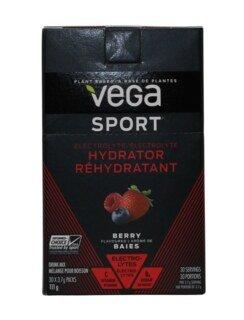 Vega Sport Electrolyte Hydrator - Berry Beutel - 30 x 3,7 g
