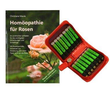 Homöopathie für Rosen (Buch) und 14er Rosen Set (Mittel)/Christiane Maute®