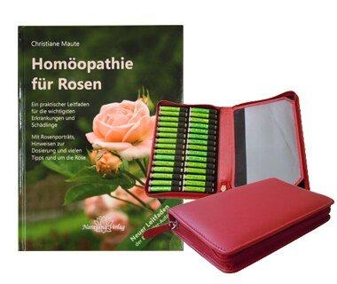 Homöopathie für Rosen (Buch) und 40er Rosen-Set (Mittel), Christiane Maute®
