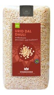 Urid Dal Dhuli - Urdbohnen geschält und halbiert Bio - 500 g/
