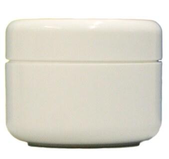 Pot pour crème, blanc avec couvercle blanc  50 ml/
