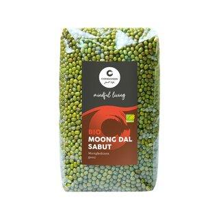 Moong Dal Sabut Mungbohnen ganz Bio - 500 g/