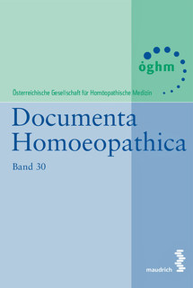 Band 30 - Documenta Homoeopathica/