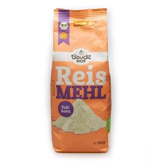 Farine de riz complet, BIO- Bauckhof Déméter- Sans gluten- 500 g/