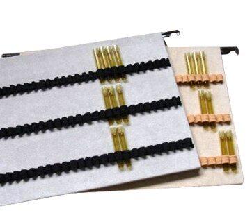 Schlaufentablett mit Schiene mit 3 x 28 Schlaufen (für 1,5 g Glasröhrchen)