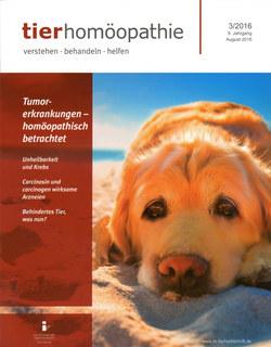 Tierhomöopathie Heft 3/16 - Tumorerkrankungen homöopathisch betrachtet/Zeitschrift