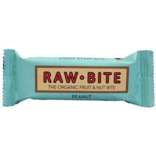 Raw Bite Rohkost Riegel Bio - Peanut - 50 g