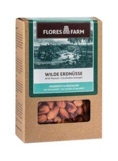 Wilde Erdnüsse Bio - Flores Farm - ungeröstet und ungesalzen - 100 g/