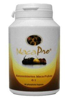 Maca Pro® Kapseln Bio - konzentriertes Pulver aus der dunklen Maca Wurzel - 90 Kapseln/