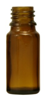 Brown glass bottles, 20 ml without fastening and dropper