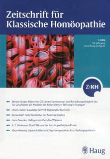Zeitschrift für Klassische Homöopathie 2016/1/ZKH