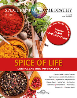 Spectrum of Homeopathy 2016-1, Spice of life - E-Book, Narayana Verlag