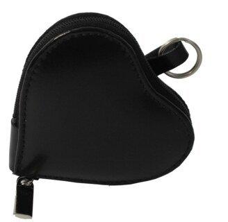 Porte-clé forme cœur- cuir- 4 boucles - livré avec 4 flacons/