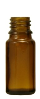 Brown glass bottles, 10 ml, without fastening and dropper - 20 pieces/