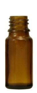 Flacons en verre brun  10 ml  sans bouchon ni goutte-à-goutte - 20 pièces/