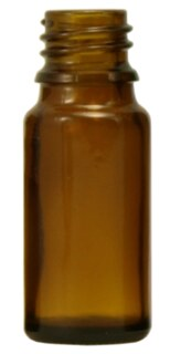 Brown glass bottles, 30 ml without fastening and dropper
