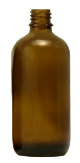 Braunglasfläschchen 100 ml ohne Verschluss und Tropfer