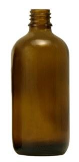 Braunglasfläschchen 100 ml ohne Verschluss und Tropfer - 10 Stück