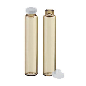 Rolled-edge glass vials 2g brown/