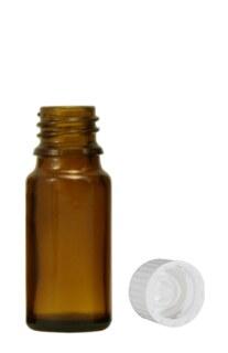 Braunglasfläschchen 10 ml mit Verschluss und Tropfer U1 - schnell tropfend/