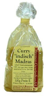 Curry indisch Madras, pikant/scharf, hoch aromatisch - 100 g
